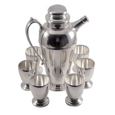 Crescent Silver Plate Cocktail Set