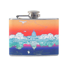 U.S. Capitol Multi Color Flask, The Hour Shop Barware
