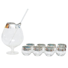 Vintage Dorothy Thorpe Cocktail Pitcher Set, The Hour