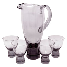 Vintage Light Smoke Glass Cocktail Pitcher Set | The Hour Shop