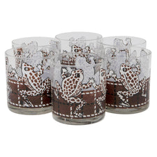 Vintage Georges Briard Brown Frog Rocks Glasses | The Hour Shop