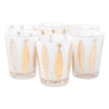 Fred Press White Cased Gold Fish Large Double Rocks Glasses