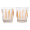 Vintage Fred Press Gold Fish White Rocks Glasses Pattern | The Hour Shop
