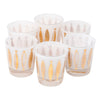 Vintage Fred Press Gold Fish White Rocks Glasses | The Hour Shop