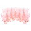 Pink Depression Glass Prohibition Era Tumblers