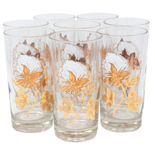 Vintage Culver Cotton Plant Collins Glasses | The Hour Shop