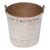 "P.H. Vogel & Co. Silver Plate 5 oz. ""Just A Bucketful"" Jigger Top View 