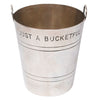 "Vintage P.H. Vogel & Co. Silver Plate 10 oz. ""Just A Bucketful"" Jigger Top View 