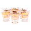 Fred Press Pink and Gold Leaves Single Old Fashioned Glasses