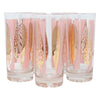 Fred Press Pink and Gold Leaves Collins Glasses Front | The Hour Shop