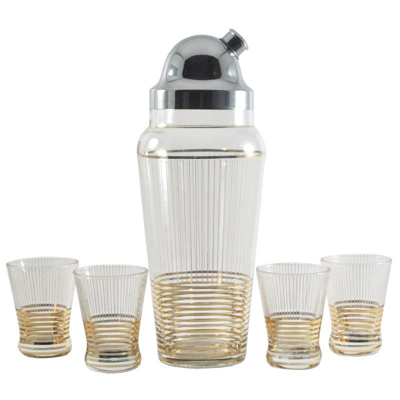 Gold Ring Cocktail Shaker Set, The Hour Shop Vintage Barware