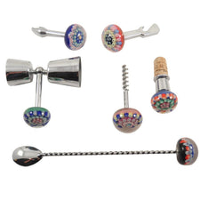 The Hour Shop, Millefiori Glass Bar Tool Set