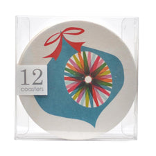 Festive Ornament Paperboard Coasters, The Hour