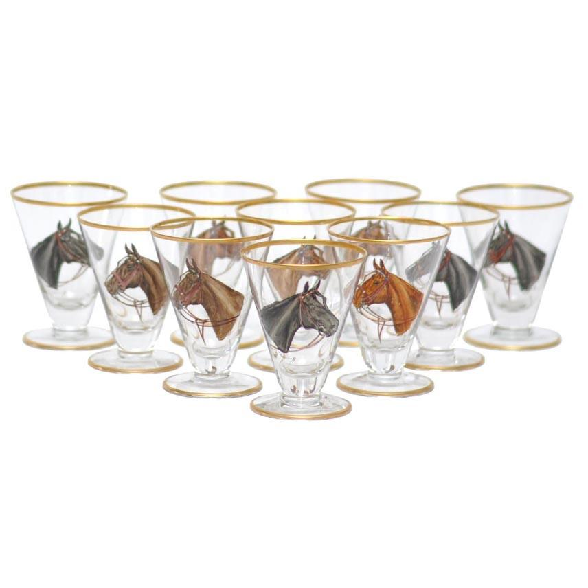 Vintage Horse Head Cocktail Glasses, The Hour Shop