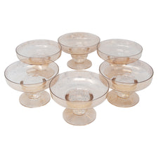 Dorothy Thorpe Gold Fleck Shrimp Cocktail Glasses