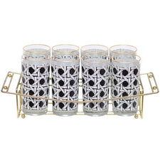 Georges Briard Collins Glass Caddy Set, The Hour Shop Vintage