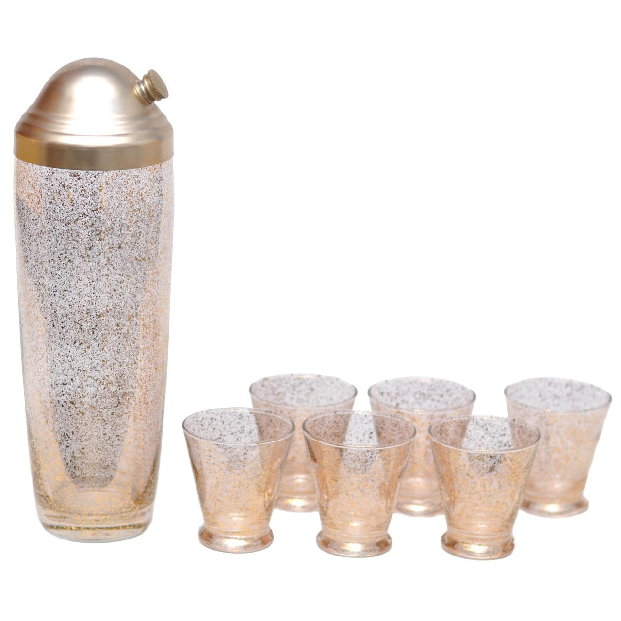 Vintage Gold Shimmer Cocktail Shaker Set | The Hour Shop