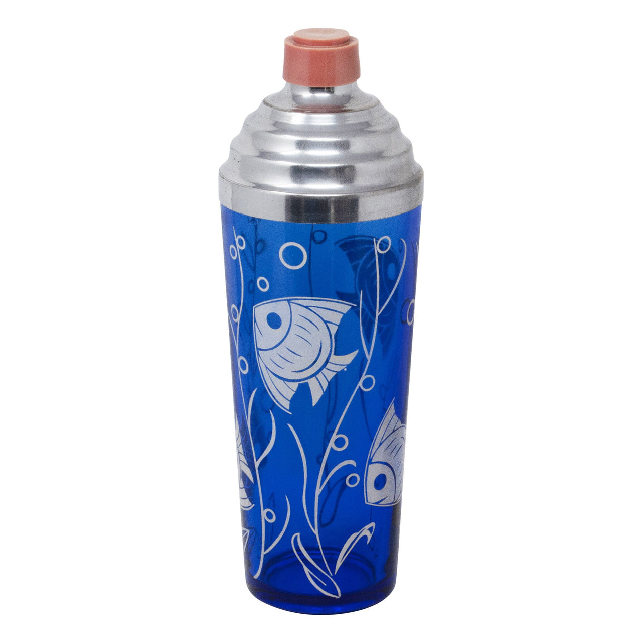 Vintage Hazel Atlas Cobalt Blue Fish Cocktail Shaker | The Hour Shop