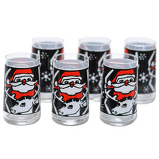 Santa & Reindeer Tumbler Glasses | The Hour Shop Vintage