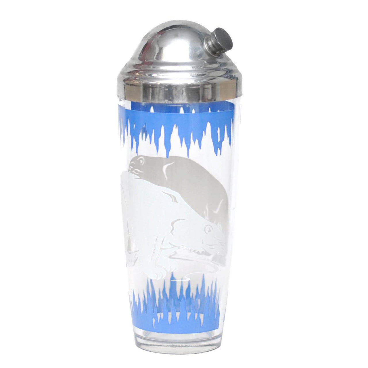Hazel Atlas Polar Bears Cocktail Shaker