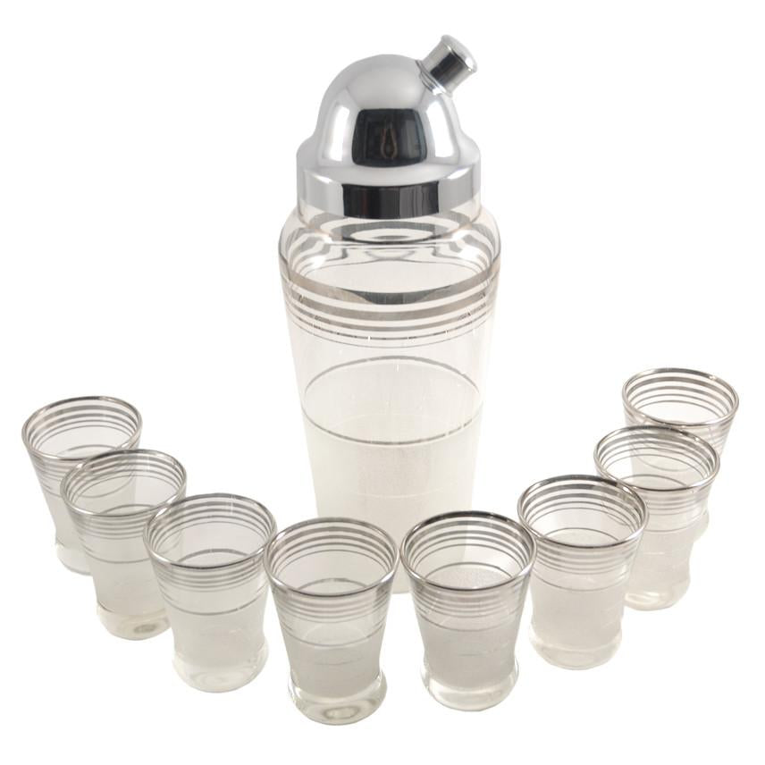 Silver Rings Cocktail Shaker Set, The Hour Shop Vintage
