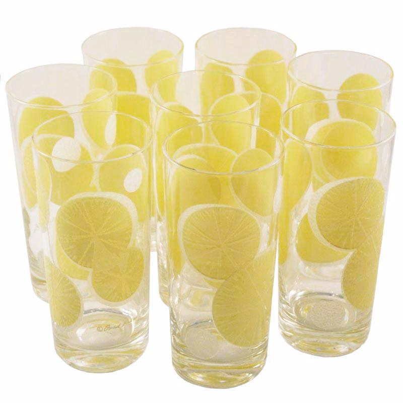 F. Press Lemon Slices Collins Glasses | The Hour Shop Vintage