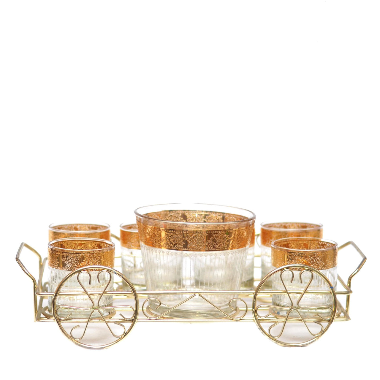 The Hour, Vintage Tyrol Culver Ice Bucket Caddy Set