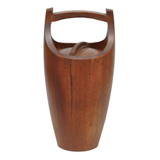 Dansk Danish Modern Teak Ice Bucket, The Hour Shop Vintage Barware