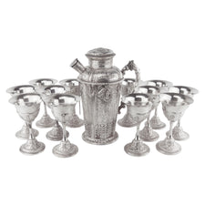Cross of England Silver Plate Cocktail Shaker Set
