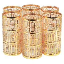 Vintage Imperial Glass Shoji Gold Collins Glasses | The Hour Shop