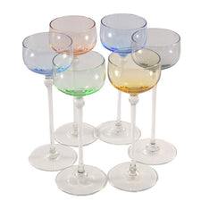 The Hour Shop, Vintage Hand Blown Pastel Cocktail Glasses