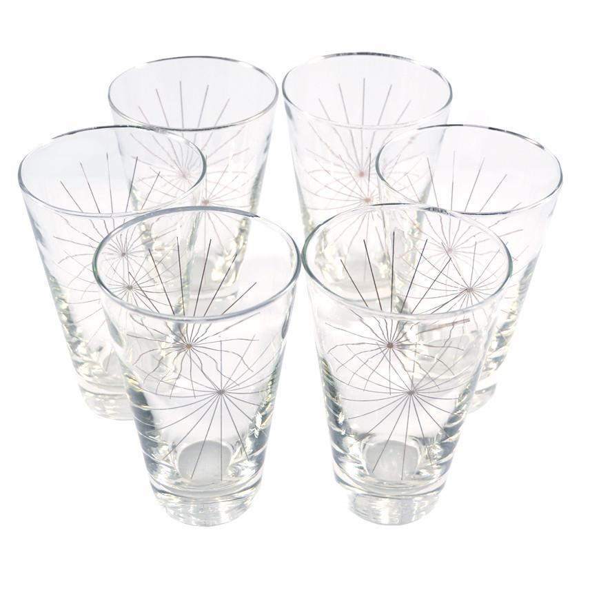 Vintage Libbey Metallic Starburst Cocktail Glasses, The Hour Shop