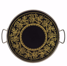 The Hour Shop, Reverse Painted Floral Filigree Tray