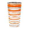 Vintage Orange & Silver Rings Cocktail Shaker Set Glass | The Hour Shop