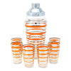Vintage Orange & Silver Rings Cocktail Shaker Set | The Hour Shop