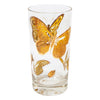 Vintage Gold Butterfly Collins Glass | The Hour Shop