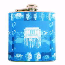 Lincoln Memorial Blue Flask, The Hour Shop Barware