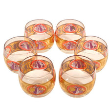Vintage Cera Gold Roly Poly Cocktail Glasses, The Hour