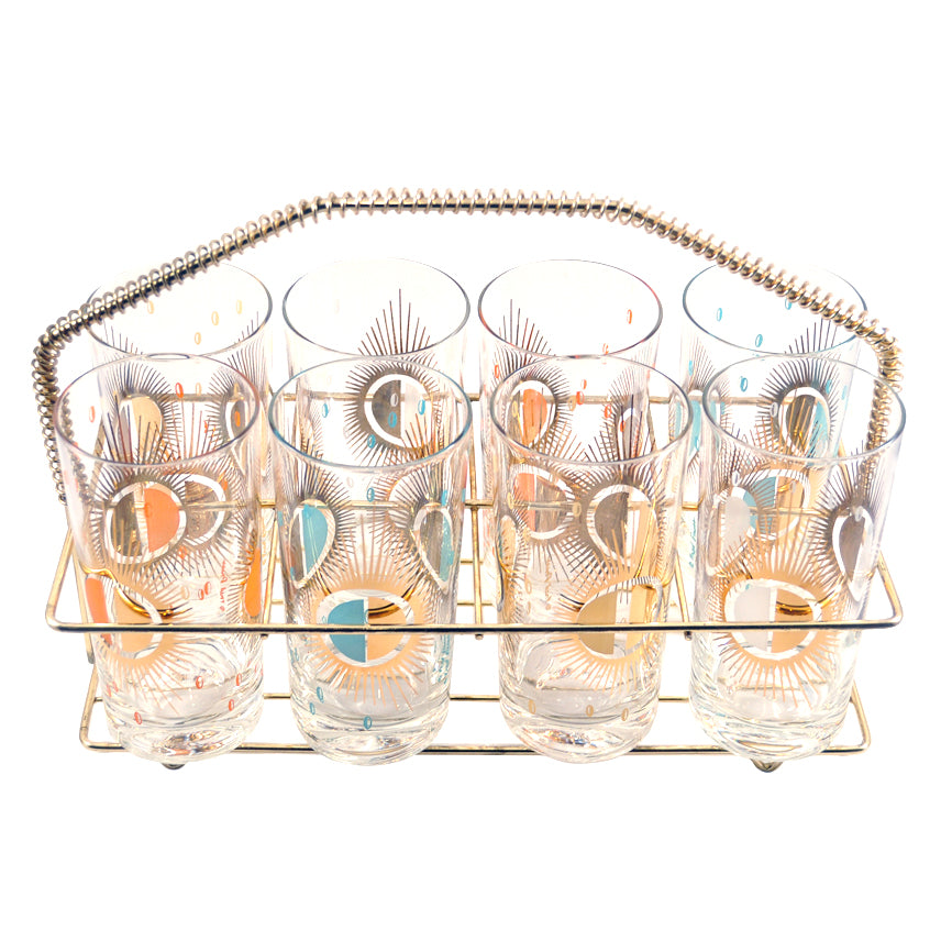 Vintage Fred Press Sunburst Collins Caddy Set | The Hour Shop