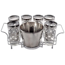 The Hour Shop, Vintage Mercury Glass Bucket Caddy Set