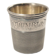 Antique Sterling Silver Thimble Jigger, The Hour