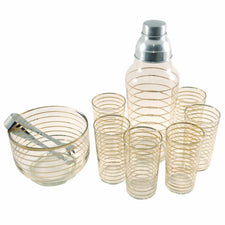 Vintage Gold Rings Cocktail Shaker Set |The Hour Shop