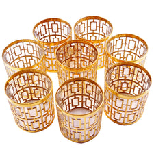 Imperial Glass Gold Shoji Rocks Glasses