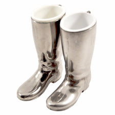 The Hour Shop, Vintage Silverplated English Boot Jiggers