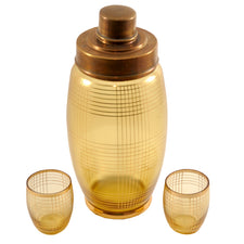 Art Deco Czech Cocktail Shaker Set