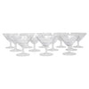 Vintage Rosenthal Etched Flowers Liqueur Glasses Front View | The Hour Shop