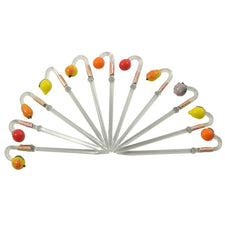 11 Glass Fruit Cocktail Picks | The Hour Shop Vintage Barware