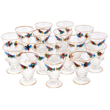 Vintage Hand Painted Rooster Cocktail Glasses | The Hour Shop