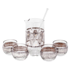 Sterling Overlay Cocktail Pitcher Set