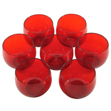 The Hour Shop, Vintage Ruby Red Roly Poly Glasses